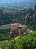 Meteora. Monastery in Greece stock photography