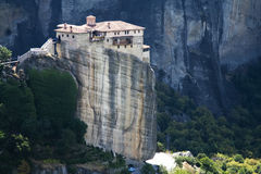 Meteora. View on the magnificent meteora and its monasteries Royalty Free Stock Images