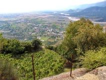 Meteora-Ansicht Stockfotos