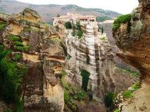 Meteora Clifftop Monasteries Stock Photography