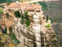 Meteora Clifftop Monasteries Stock Photos
