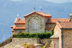 Meteora Clifftop Monasteries Stock Image