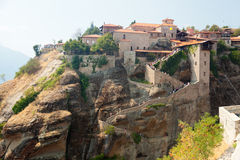 Meteora Clifftop Monasteries Royalty Free Stock Photos