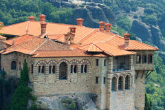Meteora Clifftop Monasteries Stock Images