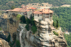 Meteora Clifftop Monasteries Royalty Free Stock Images