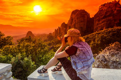 Meteora de la Grèce Photos libres de droits