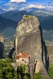 Meteora den Rousanou kloster Arkivfoton