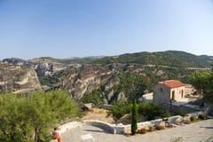 Meteora. El monasterio de la trinidad santa Fotos de archivo libres de regalías