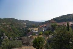 Meteora. El monasterio de la trinidad santa Fotografía de archivo libre de regalías
