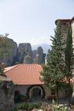 Meteora. El monasterio santo de Rousanou/St. Barbara Fotos de archivo libres de regalías
