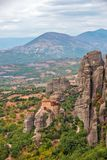Meteora Felsen und Klöster in Griechenland Lizenzfreie Stockfotos