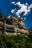 Meteora, a formation of immense monolithic pillars and hills-lik Stock Photos