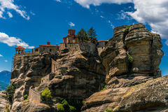 Meteora, a formation of immense monolithic pillars and hills-lik Royalty Free Stock Photo