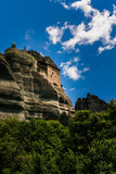 Meteora, a formation of immense monolithic pillars and hills-lik Stock Photo