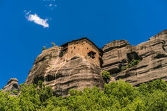 Meteora, a formation of immense monolithic pillars and hills-lik Stock Images