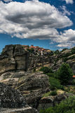 Meteora, a formation of immense monolithic pillars and hills-lik Stock Photography
