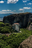 Meteora, a formation of immense monolithic pillars and hills-lik Stock Image