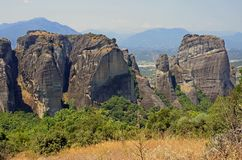 Meteora geologic Stock Photography