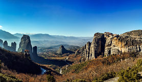 Meteora geological formations Royalty Free Stock Photography