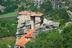 Meteora Greece. Photo of greek monastery in Meteora Stock Images