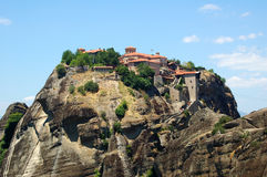 Meteora Greece. Photo of greek monastery in Meteora royalty free stock photography