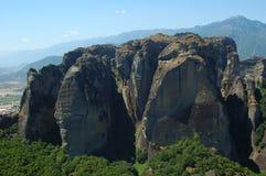 Meteora Greece. Photo of greek rocks in Meteora Stock Photography