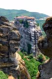 The Meteora in Greece. The Meteora - complex of orthodox monasteries in Greece Royalty Free Stock Photography