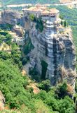 The Meteora in Greece. The Meteora - complex of orthodox monasteries in Greece Royalty Free Stock Images