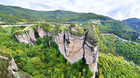 Meteora Greece landscape Stock Photos
