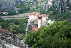 Meteora, Greece. The largest and most important complexes of Eastern Orthodox monasteries in Greece royalty free stock photography