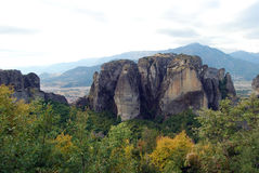 Meteora, Greece. The largest and most important complexes of Eastern Orthodox monasteries in Greece Stock Photo