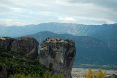 Meteora, Greece. The largest and most important complexes of Eastern Orthodox monasteries in Greece stock photography