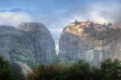 Meteora, Greece - monastery Holy Trinity Stock Photo