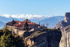 Meteora Greece Monastery Royalty Free Stock Photos