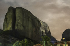 Meteora in Greece in the night Stock Images