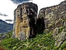 Meteora, Greece. A Meteora rock, in Kalabaka, Greece Royalty Free Stock Photography