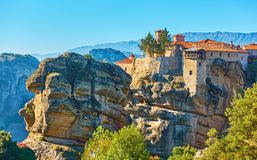 The Meteora in Greece Royalty Free Stock Photos