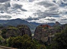Meteora, Greece. A view of Meteora, in Kalabaka, Greece Royalty Free Stock Images