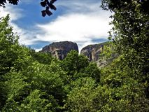 Meteora, Greece. A view of Meteora, in Kalabaka, Greece Stock Photo