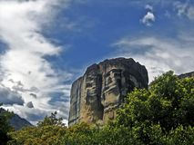 Meteora, Greece. A view of one of Meteora rocks in Greece Royalty Free Stock Photography