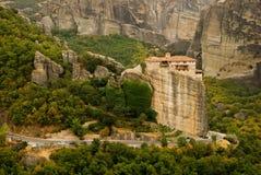 Meteora Grekland Arkivfoton