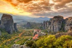 Meteora Grekland Arkivbild
