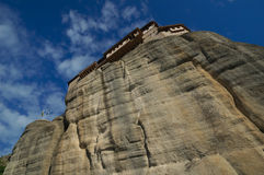 Meteora, Griechenland - Kloster Roussanou Stockfotografie
