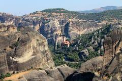 Meteora Griekenland Europa Stock Foto