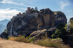Meteora, Holy Monastery of Great Meteoron Stock Photography