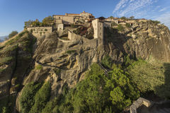 Meteora, Holy Monastery of Great Meteoron Royalty Free Stock Photo