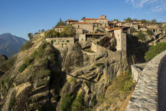 Meteora, Holy Monastery of Great Meteoron Stock Image