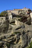 Meteora, Holy Monastery of Great Meteoron Royalty Free Stock Photography