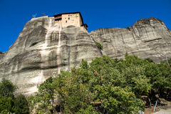 Meteora, Holy Monastery of St. Nicholas Anapausas Stock Photos