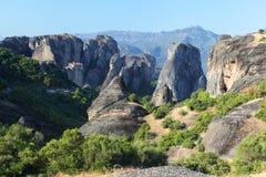 Meteora i Grekland Fotografering för Bildbyråer